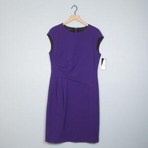 NWT Lafayette 148 Purple Wool Career Dress size 10